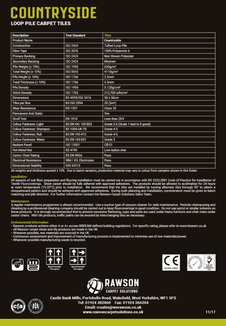 Countryside - Tech Sheet