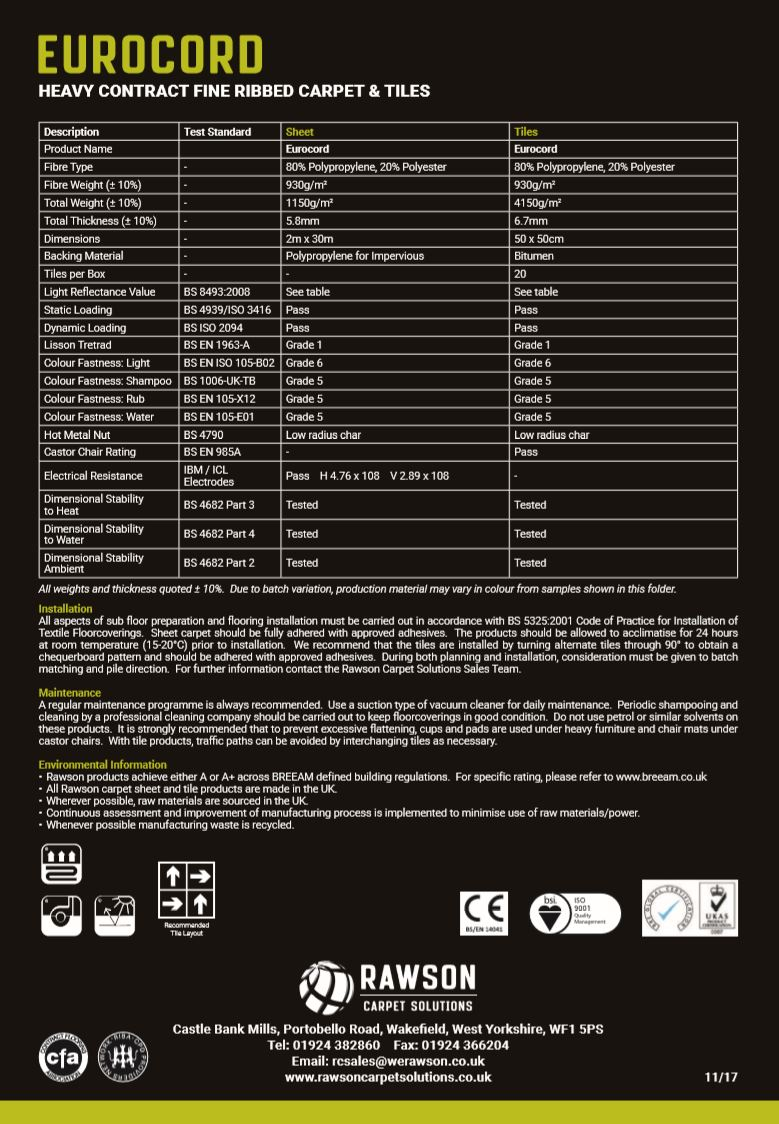 Eurocord - Tech Sheet