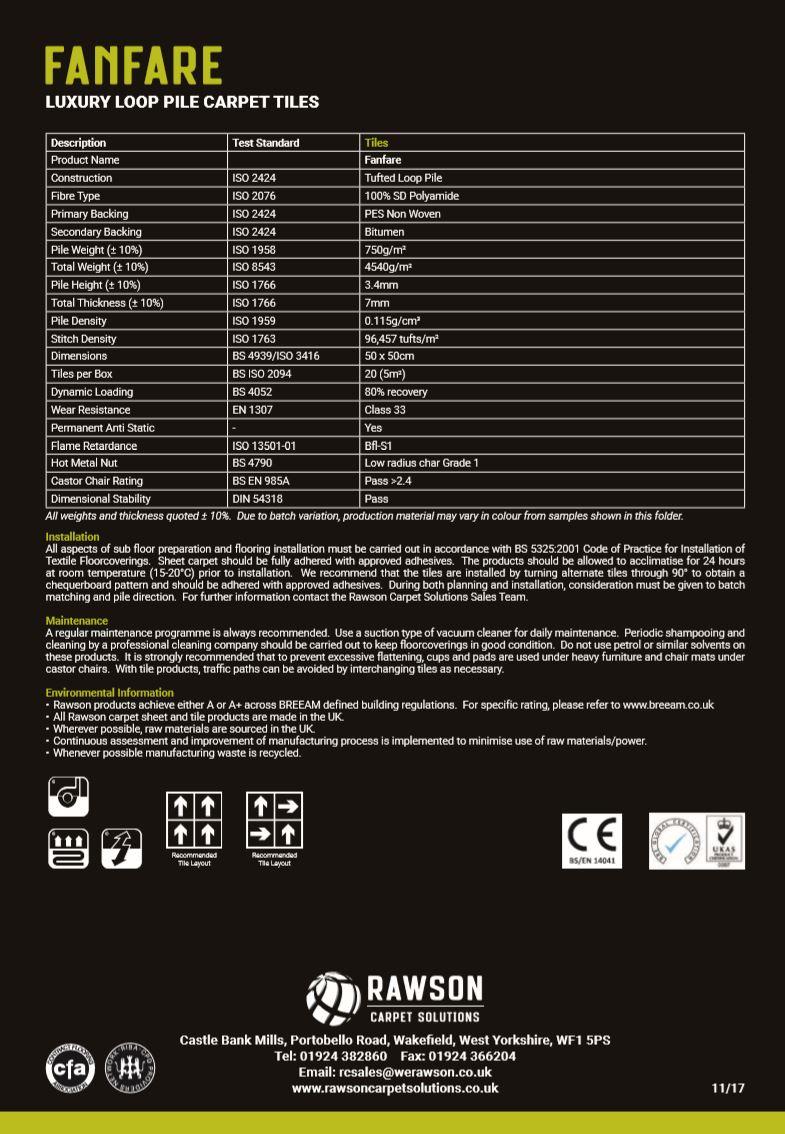 Fanfare - Tech Sheet