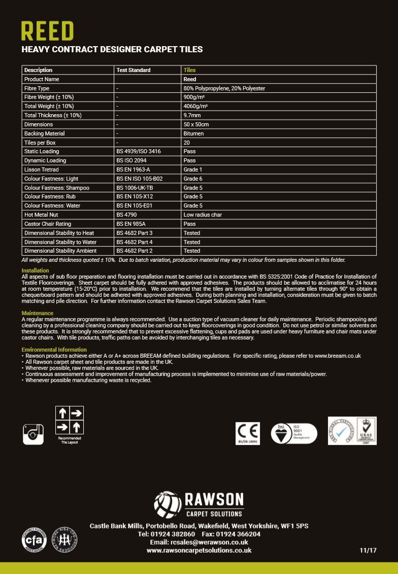 Reed - Tech Sheet