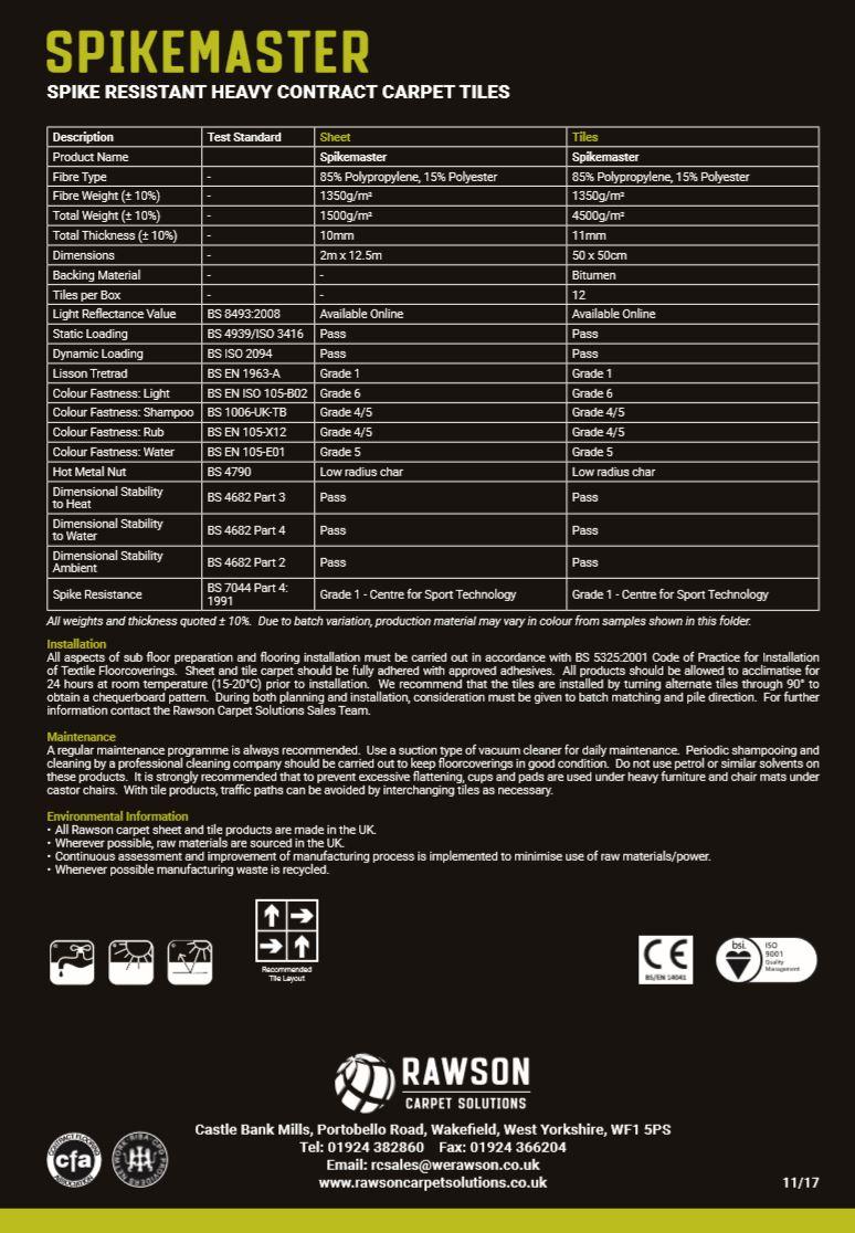 Spikemaster - Tech Sheet