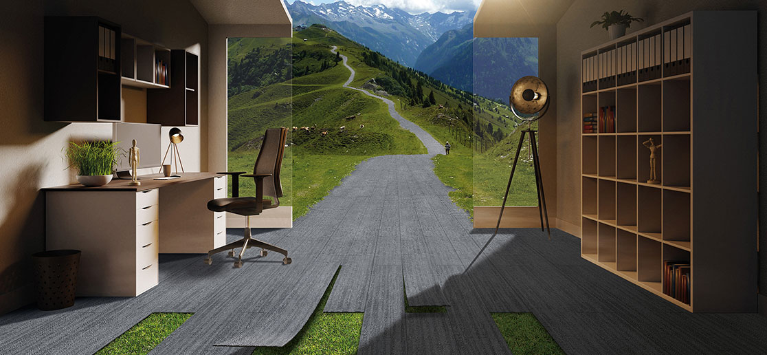 Deep and Luxurious Riven Tiles - Designer Carpet